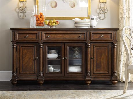 Hooker Furniture Leesburg Rich Traditional mahogany 72''L x 20''W Rectangular Buffets