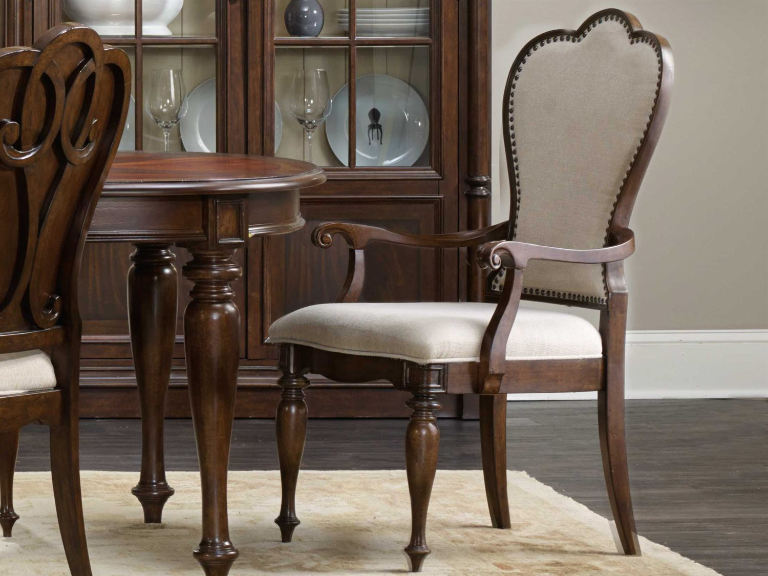 Hooker Furniture Leesburg Mahogany Dining Arm Chair
