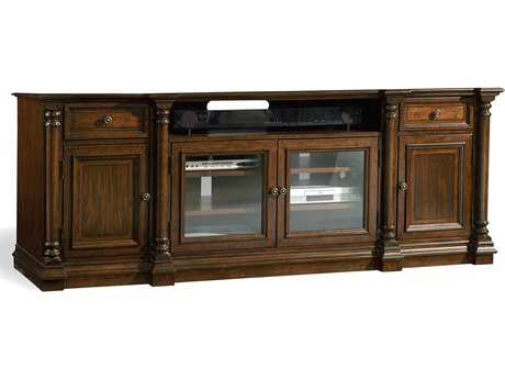 Hooker Furniture Leesburg Rich Traditional Mahogany 84''L x 22''W Rectangular Entertainment Console HOO538155484
