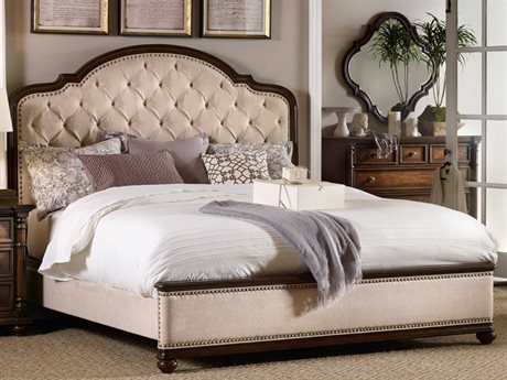 Hooker Furniture Leesburg Rich Traditional Mahogany Queen Size Panel Bed HOO538190850
