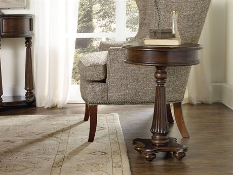 Hooker Furniture Leesburg Mahogany 18'' Wide Round Pedestal Table HOO538180117