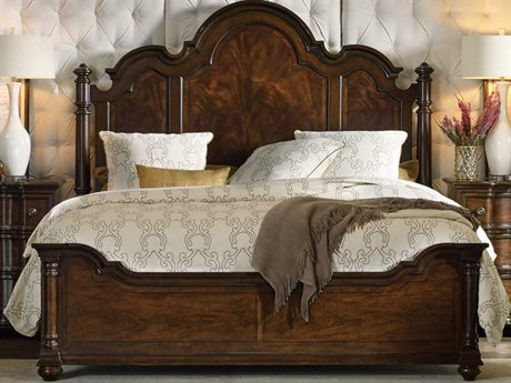 Hooker Furniture Leesburg Rich Traditional Mahogany Queen Size Poster Bed