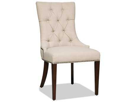Hooker Furniture Lindy Linen Dark Wood Dining Side Chair HOO300350031