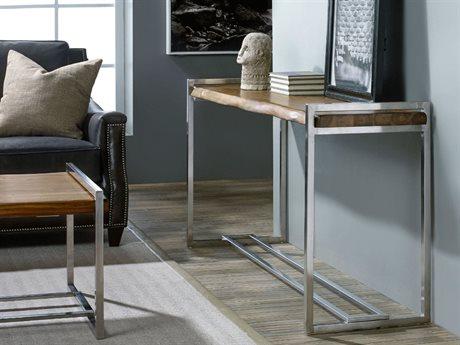 Hooker Furniture Live Edge Medium Wood 62''L x 18''W Rectangular Console Table