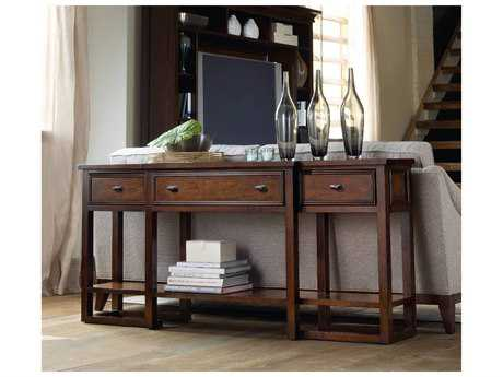 Hooker Furniture Lorimer Waxed Hickory Veneer 72''L x 14''W Rectangular Console Table HOO506580151