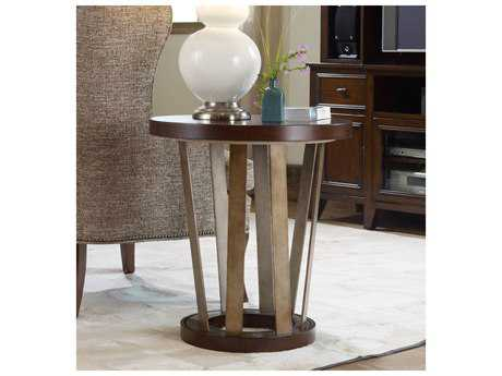 Hooker Furniture Lorimer Waxed Hickory 24'' Wide Round End Table