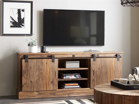 Hooker Furniture L'Usine Medium Wood 77''L x 19''W Rectangular Entertainment Console HOO595055477MWD