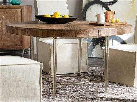 Hooker Furniture L'Usine Medium Wood 54'' Wide Round Dining Table HOO595075203MWD