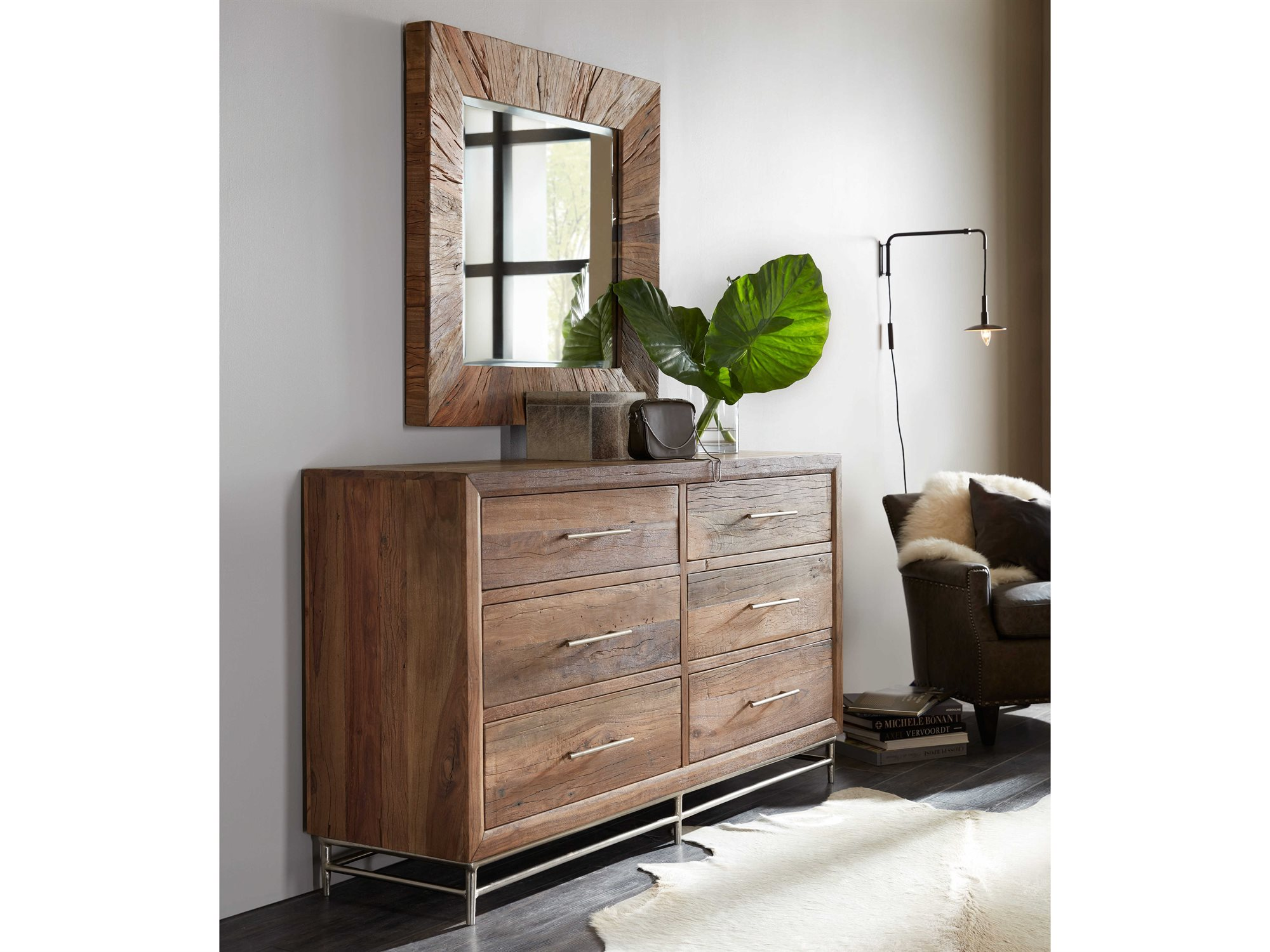 Hooker Furniture L Usine Medium Wood Six Drawers Dresser With
