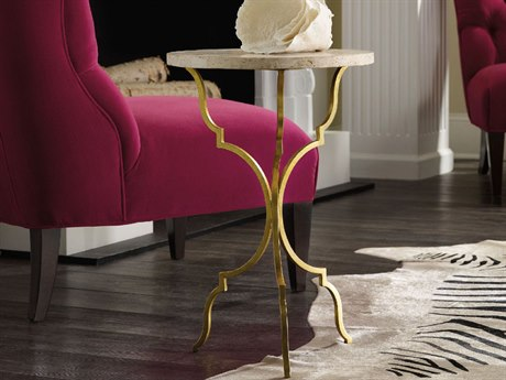 Hooker Furniture Martini Gold 16'' Wide Round End Table HOO554050001GLD