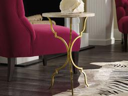 Martini Gold 16'' Wide Round End Table