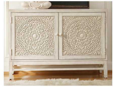 Hooker Furniture Melange Matisette White, Cream & Beige 54''L x 20''W Rectangular Buffet