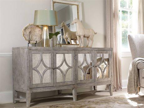 Hooker Furniture Melange Light Wood 68''L x 19''W Rectangular Diamante Console Buffet