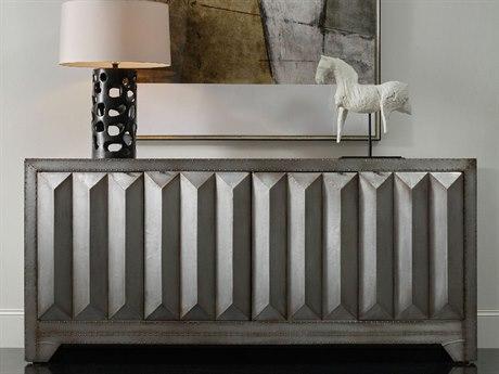 Hooker Furniture Melange Silver 80''L x 19''W Rectangular Zayne Credenza Buffet HOO63885298MTL
