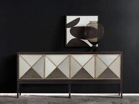 Hooker Furniture Melange Black 72''L x 20''W Rectangular Jova Credenza Buffet HOO63885306CHP