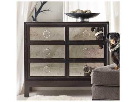 Hooker Furniture Melange Dark Merlot 36''W x 18''D Mirrored Front Accent Chest