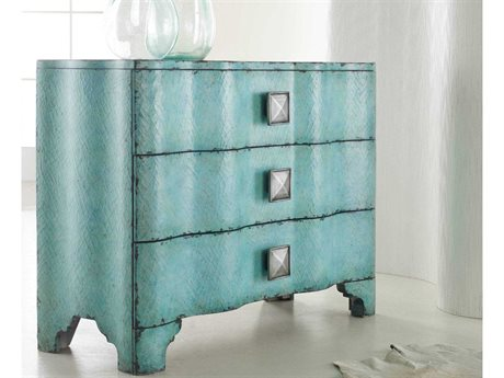 Hooker Furniture Melange Turquoise Crackle 44''W x 18''D Accent Chest HOO63885016