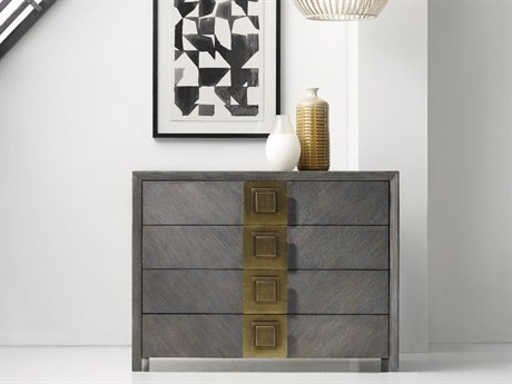 Hooker Furniture Melange Gray 42''W x 19''D Vega Accent Chest Cabinet HOO63885289GRY