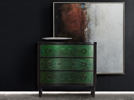 Hooker Furniture Melange Green 38''W x 21''D Tolli Accent Chest Cabinet HOO63885318GRN