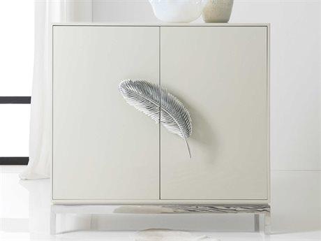 Hooker Furniture Melange White / Polished Aluminum Bar Cabinet HOO6388550302