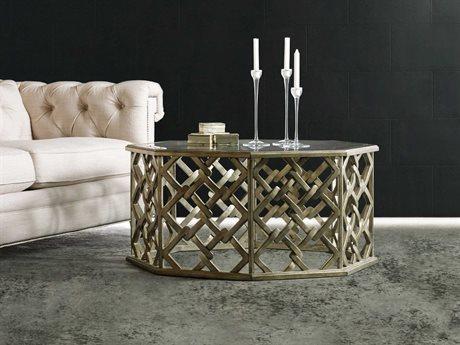 Hooker Furniture Melange Silver 40''L x 40''W Octagon Nico Cocktail Table