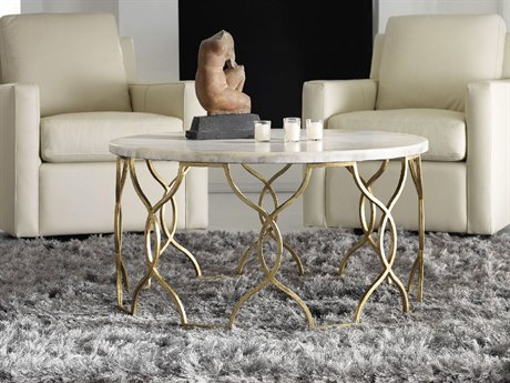 Hooker Furniture Melange Gold 36'' Wide Round Corrina Cocktail Table HOO63850359WH