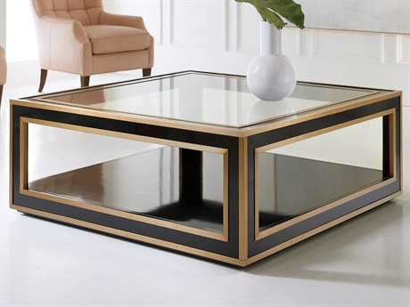 Hooker Furniture Melange Black / Gold 48'' Wide Square Coffee Table HOO6385044299