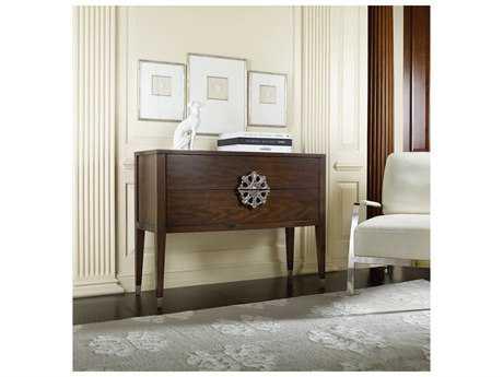 Hooker Furniture Melange Dark Wood 44''L x 18''W Rectangular Medallion Console Table
