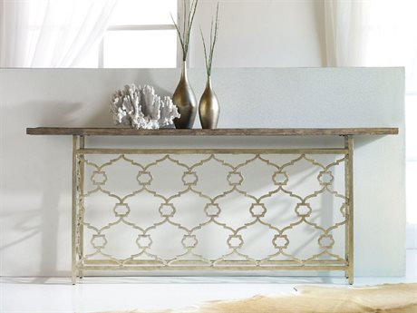 Hooker Furniture Melange Silver 82''L x 14''W Rectangular Landon Hall Console Table HOO63885201