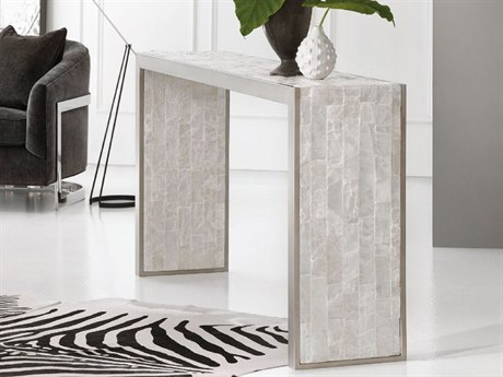 Hooker Furniture Melange White 72''L x 14''W Rectangular Emma Console Table HOO63885302MULTI