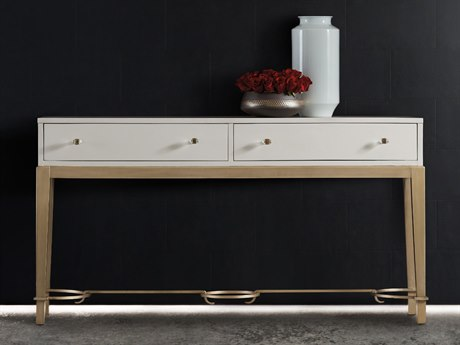 Hooker Furniture Melange Lady in White 65''L x 17''W Rectangular Console Table