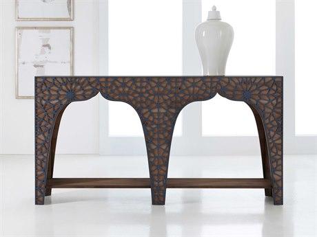 Hooker Furniture Melange Dark Wood 70'' Wide Rectangular Console Table