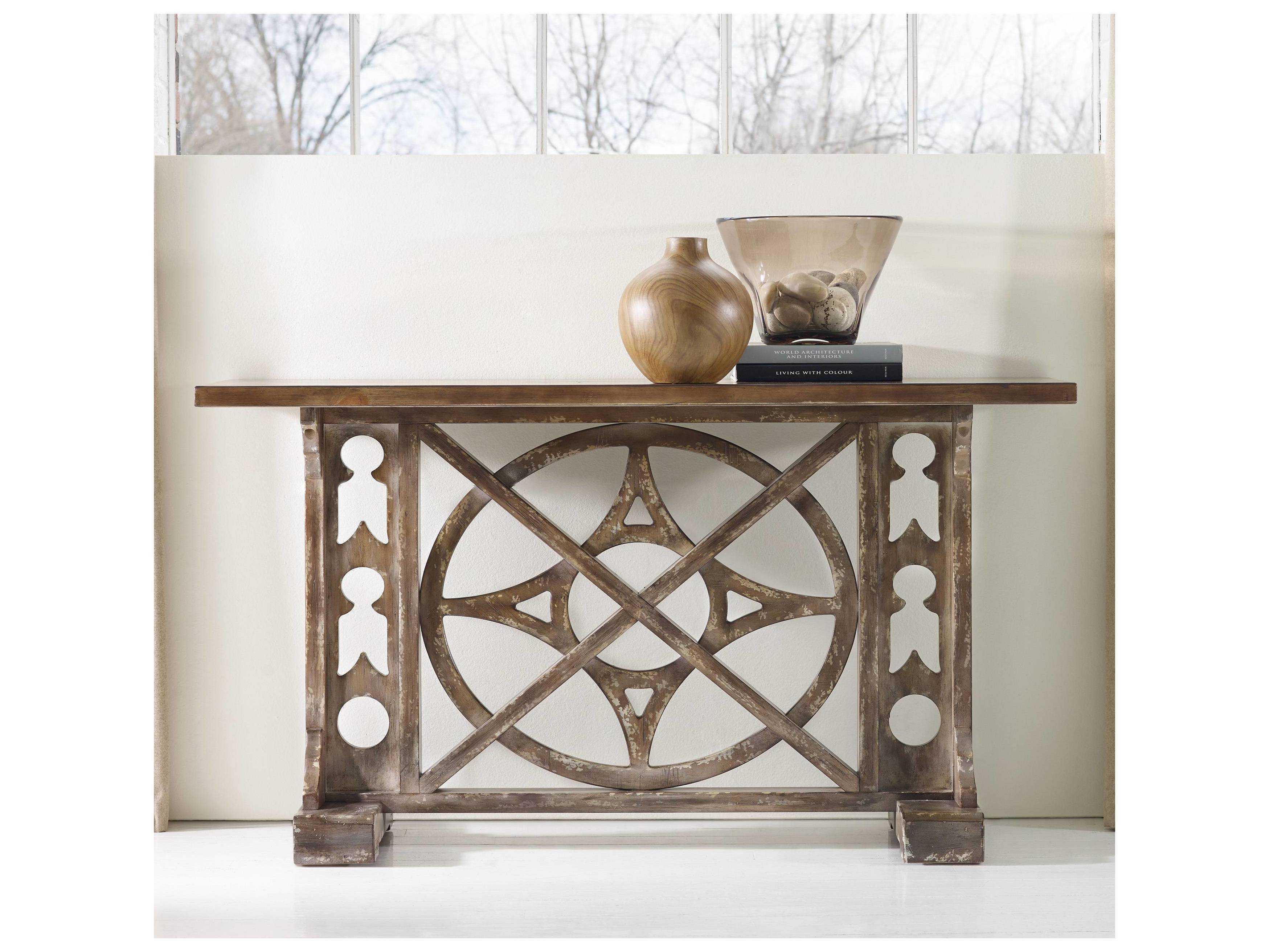 Hooker Furniture Melange Medium Wood 59 L X 19 W Rectangular Rafferty Console Table Hoo63885001