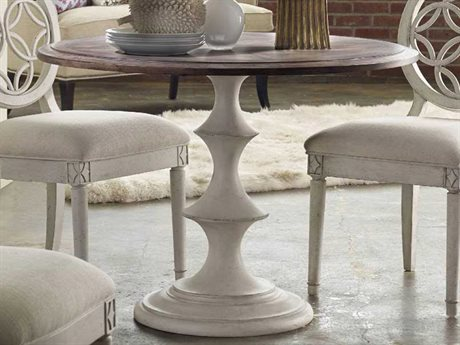 Hooker Furniture Melange Walnut with White 42'' Wide Round Dining Table HOO63875007