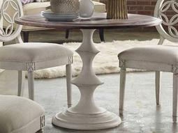 Melange Walnut with White 42'' Wide Round Dining Table