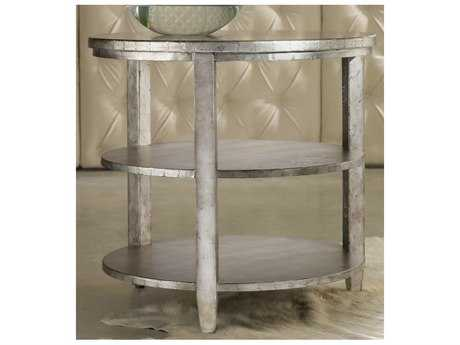 Hooker Furniture Melange Aluminum 28'' Wide Round Maverick End Table HOO63850071