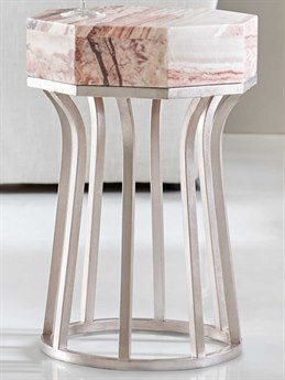 Hooker Furniture Melange Dragon Onyx / Matte Silver 15'' Wide Octagon End Table HOO63850395MULTI