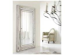 Melange Champagne Antique Silver and Gold 48''W x 82''H Rectangular Glamour Floor Mirror with Jewelry Armoire Storage