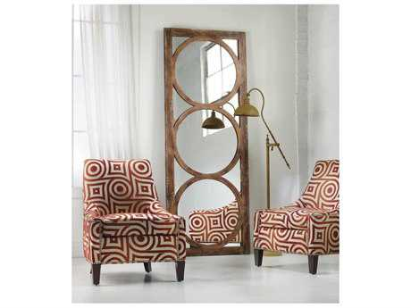 Hooker Furniture Melange Medium Wood 32''W x 84''H Rectangular Encircle Floor Mirror