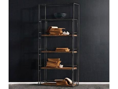 Hooker Furniture Melange Black Griffing Bookcase HOO63810016LTBR