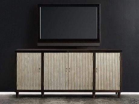 Hooker Furniture Melange Dark Wood 72''L x 20''W Rectangular Entertainment Console HOO63855017