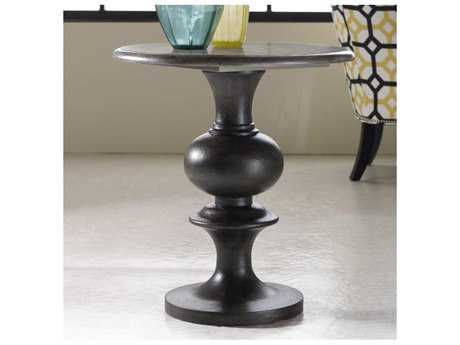 Hooker Furniture Melange Gray 24'' Wide Round Hadley Pedestal Table