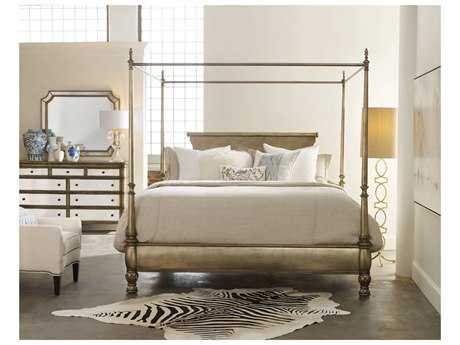 Hooker Furniture Melange Champagne King Size Montage Poster Bed HOO63890966