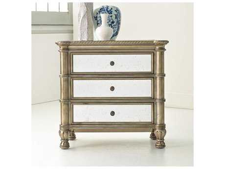 Hooker Furniture Melange Gold 32''W x 17''D Rectangular Bedside Chest Nightstand