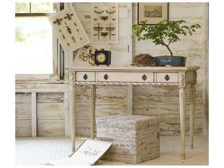 Hooker Furniture Melange White, Cream & Beige 42''L x 24''W Rectangular Sofia Writing Desk HOO63850004