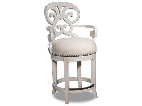 Hooker Furniture Mimosa Sunset Point Hatteras White Counter Stool HOO30025006