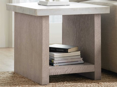 Hooker Furniture Miramar - Carmel Gray 24'' Wide Square End Table HOO620080113GRY