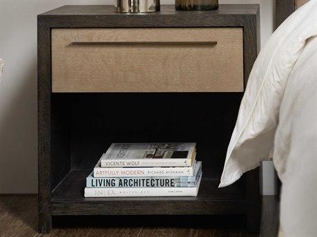 Hooker Furniture Miramar - Point Reyes Dark Wood 1 Drawer Nightstand