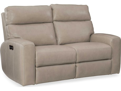 Hooker Furniture Mowry Cream Power Motion Loveseat with Power Headrest