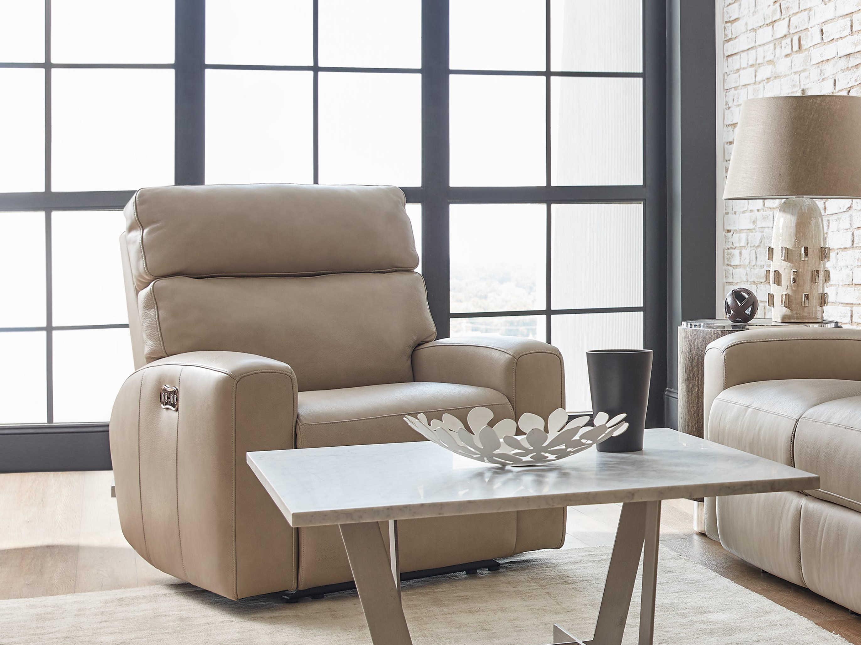 Hooker Furniture Mowry Cream Power Motion Recliner With Power Headrest